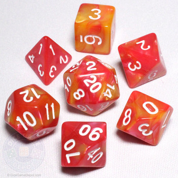 Dragon's Blaze dice set - Fusion DnD dice