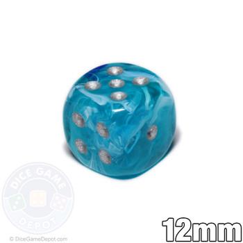 12mm Cirrus Aqua 6-sided Dice