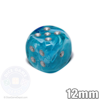 12mm Cirrus Aqua 6-sided Dice