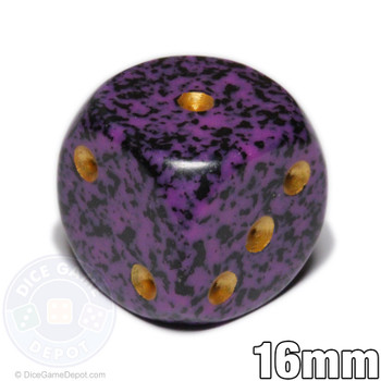 Speckled Hurricane 6-sided Dice