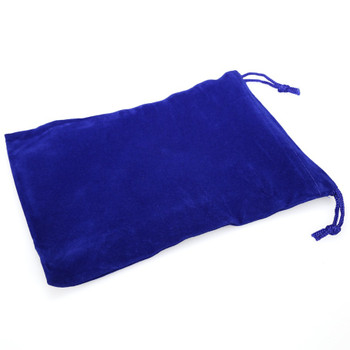 Large blue cloth dice bag