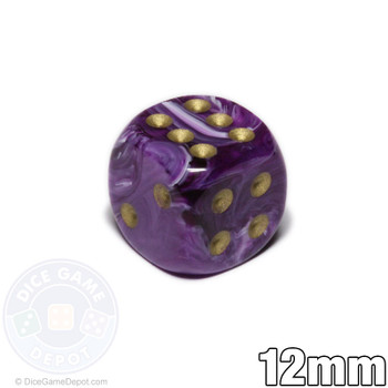 Purple Vortex dice - 12mm d6