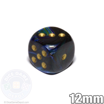 Shadow Lustrous Dice - 12mm d6