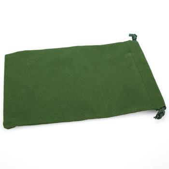 Green velveteen dice bag - Large