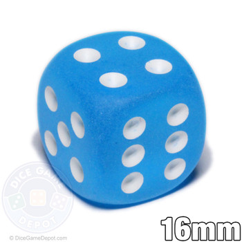 Frosted Caribbean 6-sided dice