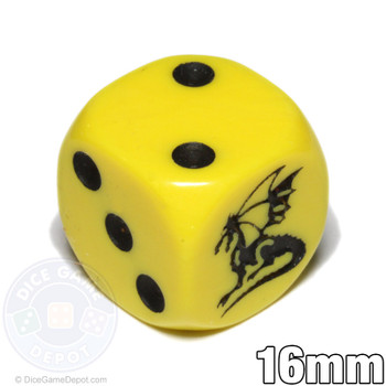 Dragon dice - Yellow d6