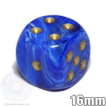 Blue Vortex 6-sided dice