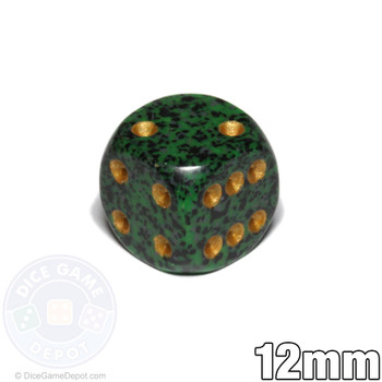 Speckled Golden Recon Dice - 12mm d6