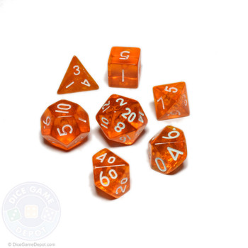 Mini dice set - Ancient Amber