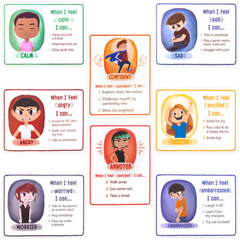 How I'm Feeling Reversible Classroom Posters - Pack of 8