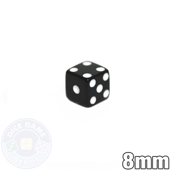8mm Opaque Black Dice