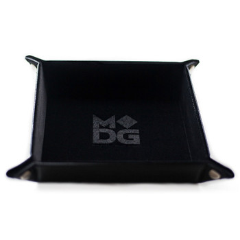 Folding dice tray - Black velvet