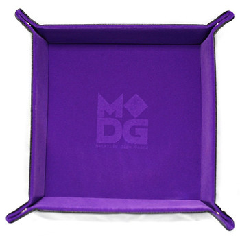 Folding dice tray - Purple velvet