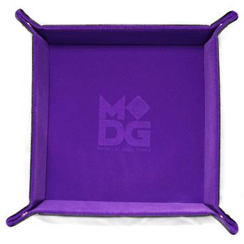 Folding dice tray - Purple velvet