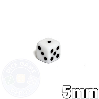 Small 5mm white dice
