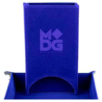 Blue velvet fold up dice tower