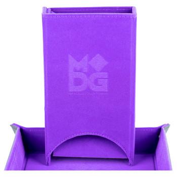 Purple velvet fold up dice tower
