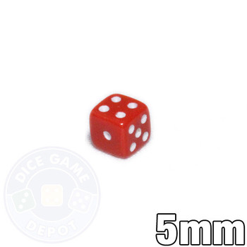 5mm Opaque Red Dice