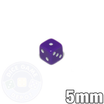 5mm Opaque Purple Dice