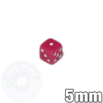5mm Opaque Pink Dice
