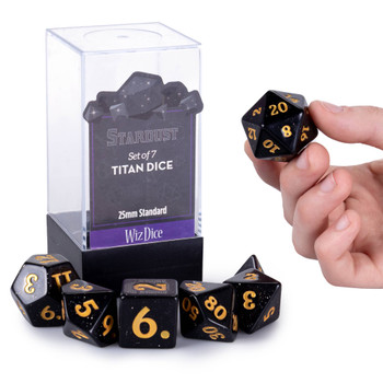 Stardust - 25mm Titan dice set