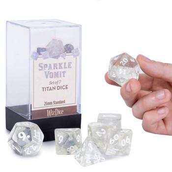 Sparkle Vomit dice set - 25mm Titan dice