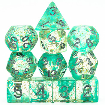 Mystic Pool dice set - Green - D&D dice