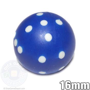 Blue round dice