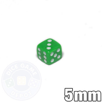 5mm Opaque Green Dice