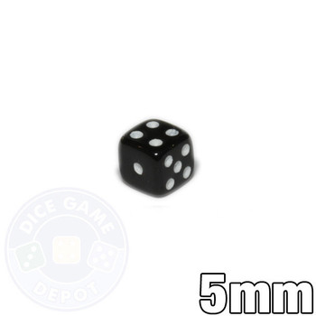 5mm Opaque Black Dice