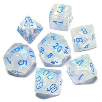 Icicle Borealis Luminary Dice Set - DnD dice