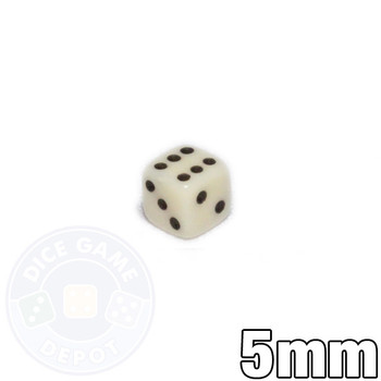 5mm Opaque Ivory Dice