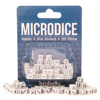 5mm microdice - Set of 50 tiny dice