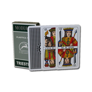 Italian Regional Plastic Playing Cards - Triestine