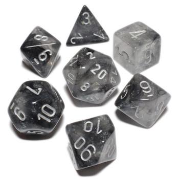 Smoke Borealis Luminary dice set - DnD dice