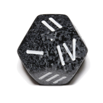 12-sided die numbered 1 through 4 - Urban Camo