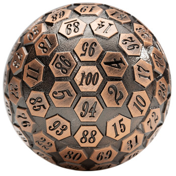 d100 - 100-sided dice - Ancient copper
