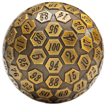 d100 - 100-Sided Dice - Ancient Gold