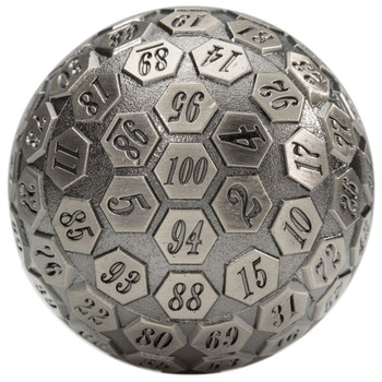 100-sided dice - Silver - d100