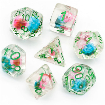 Sacred Lotus dice set - Polyhedral D&D dice
