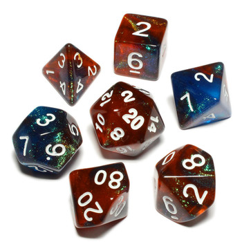 Night Woods polyhedral dice set