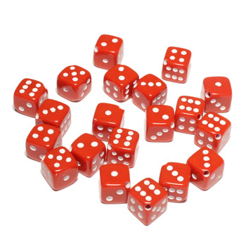 Dice beads - Red