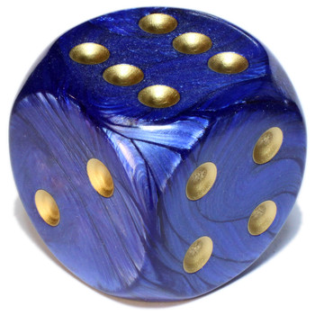 50mm Scarab Royal Blue Dice