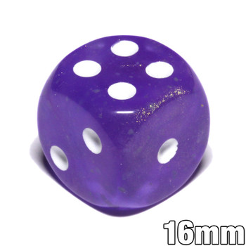 Borealis Luminary Dice - Purple 6-sided dice