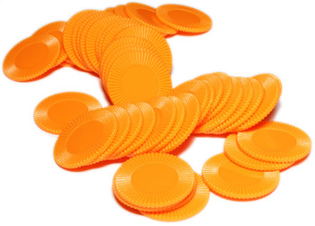Mini poker chips - Orange