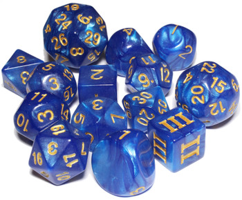 Maned Wyrm dice set for DCC