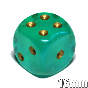 Borealis Luminary dice - Light green - 16mm d6
