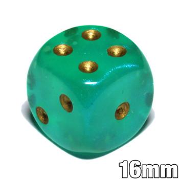 Borealis Luminary dice - Light green - 16mm d6