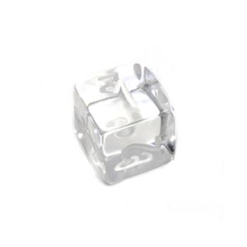 d6 - Transparent Clear dice