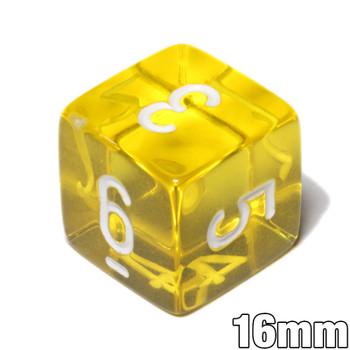 d6 - Transparent Yellow dice